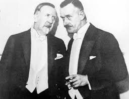 Thomas Mann (right), 1875 - 1955, with his brother Heinrich