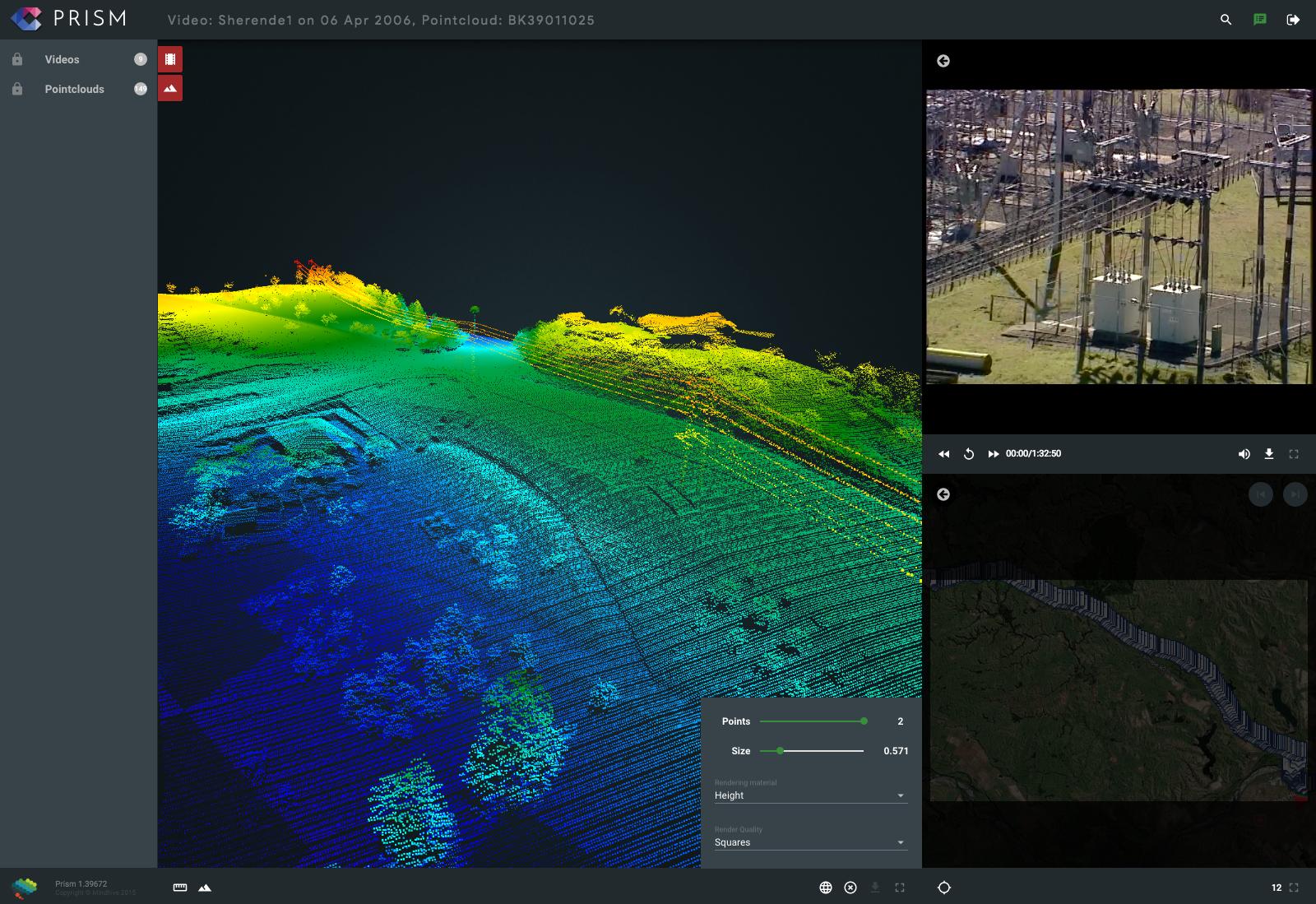 PRISM LiDAR and Aerial Video