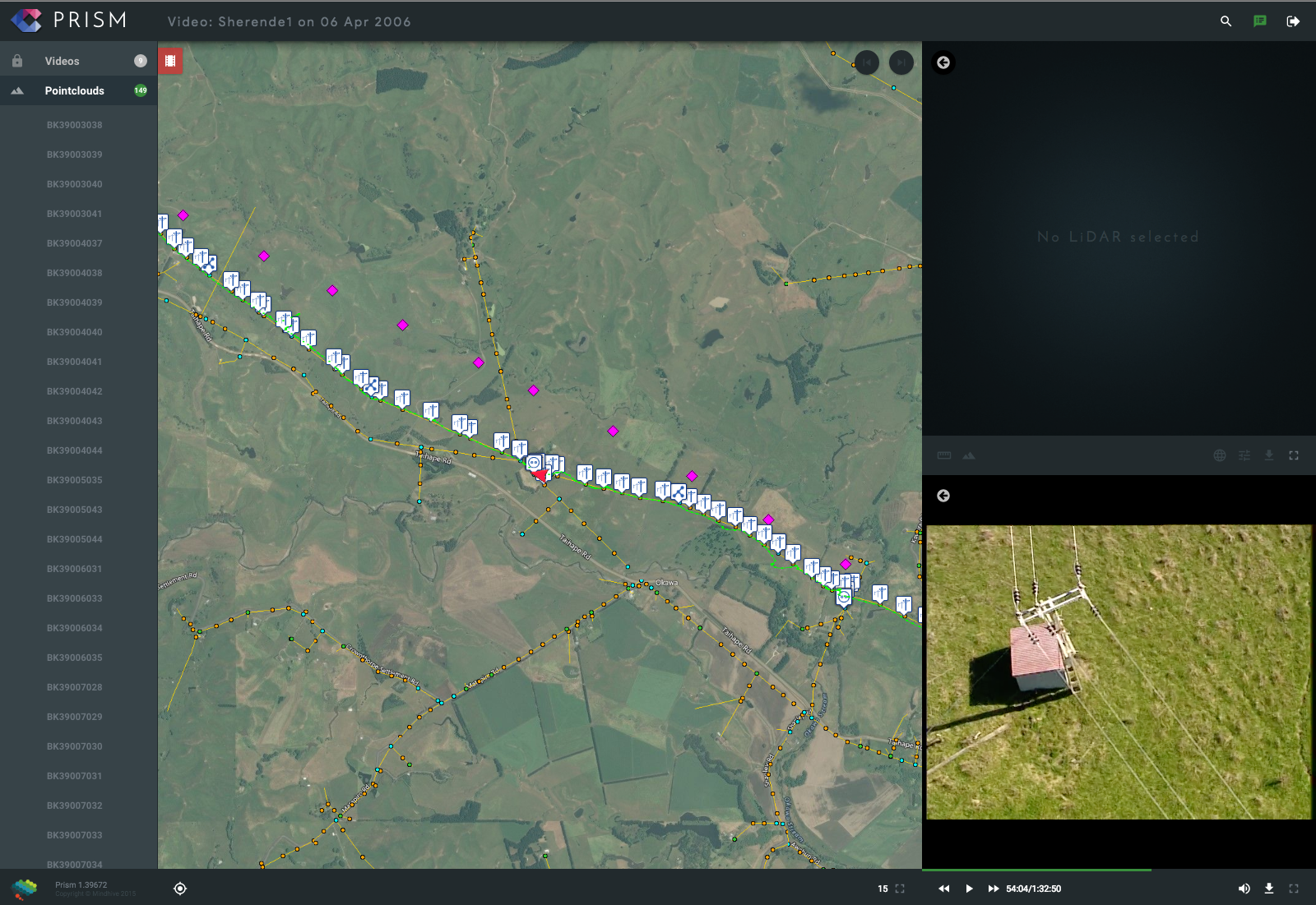 PRISM Aerial map tracking and Video
