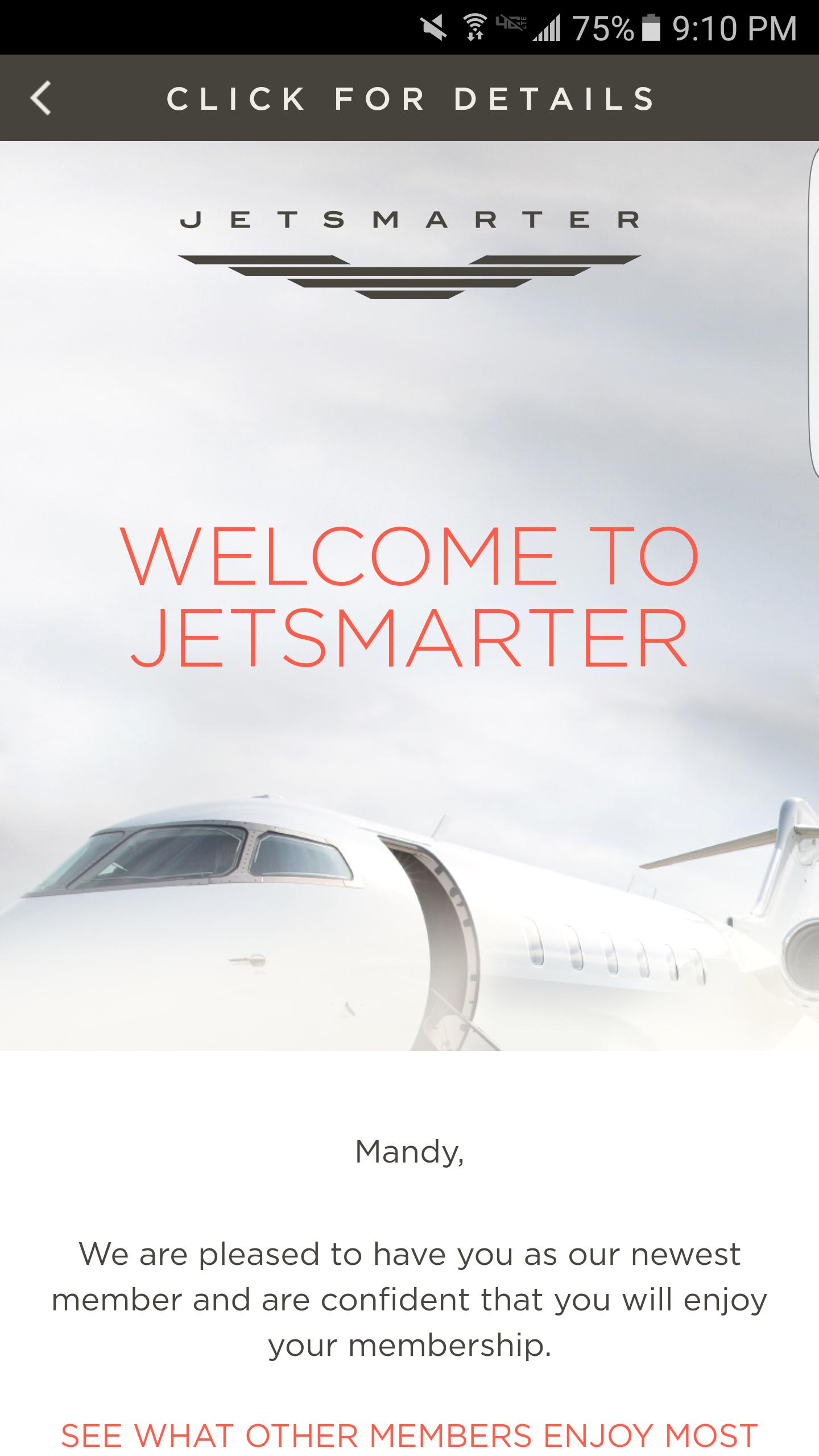 JetSmarter Enrollment