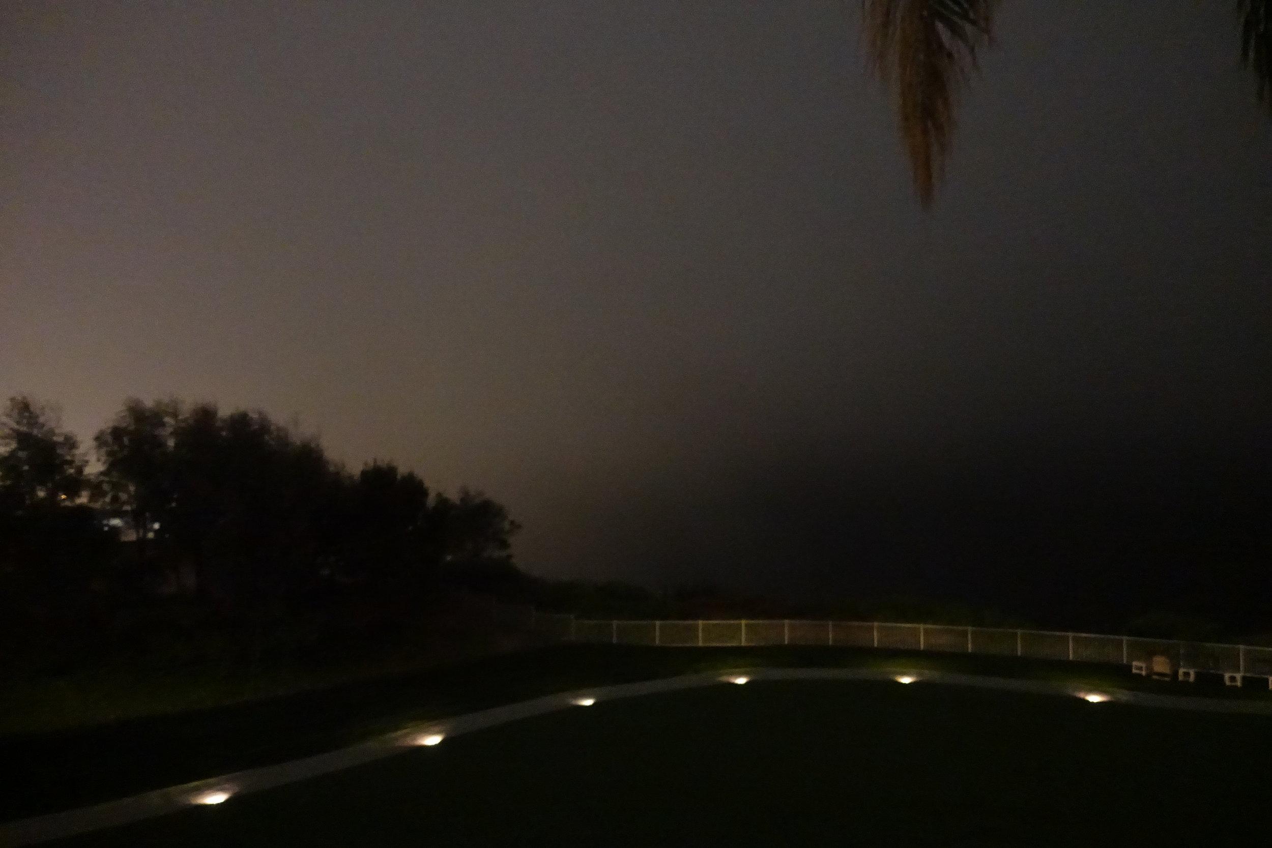 Night time ocean view