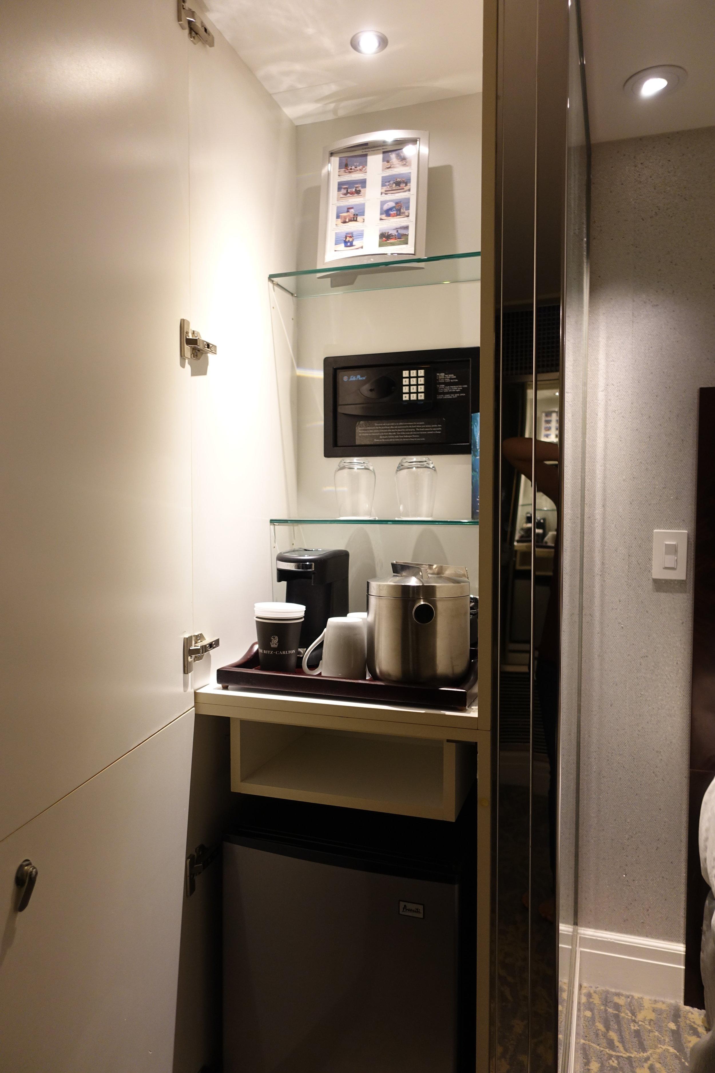 coffee and minifridge