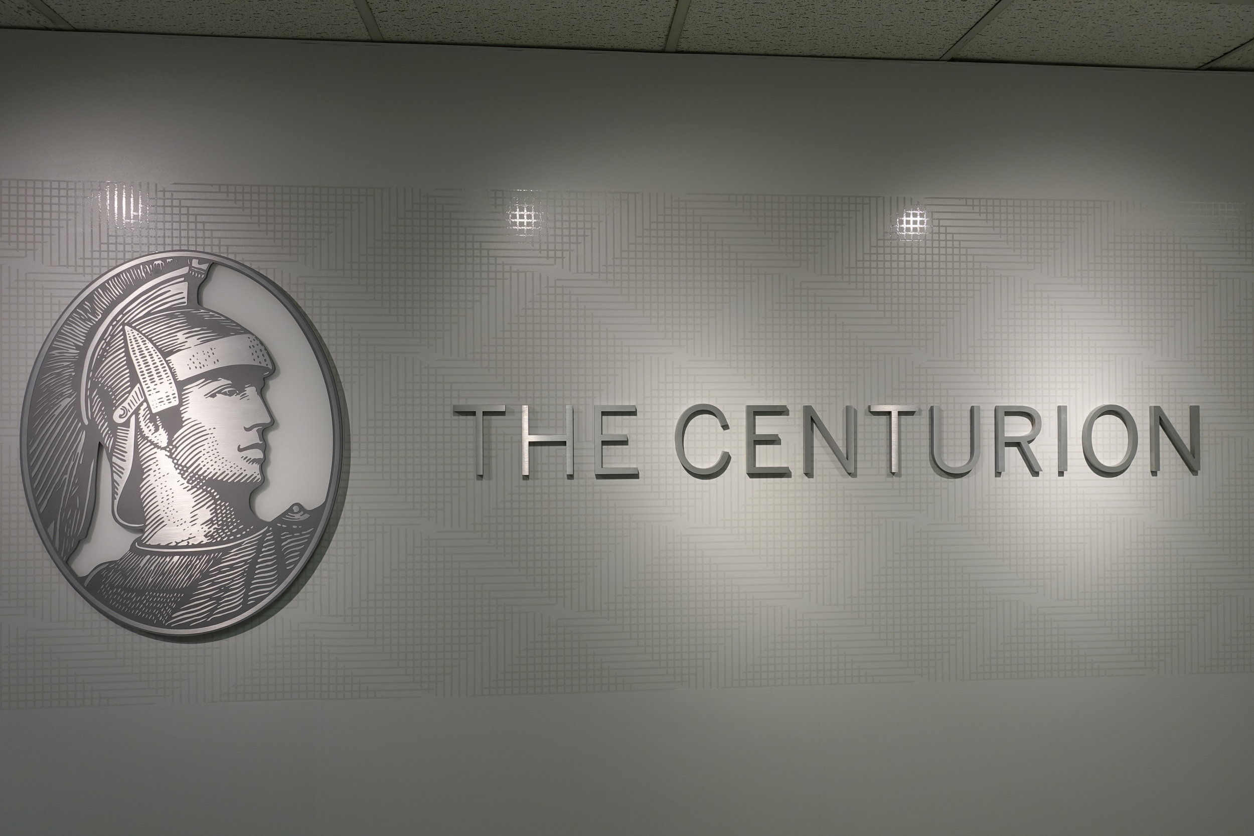 Entrance of the Amex Centurion Lounge