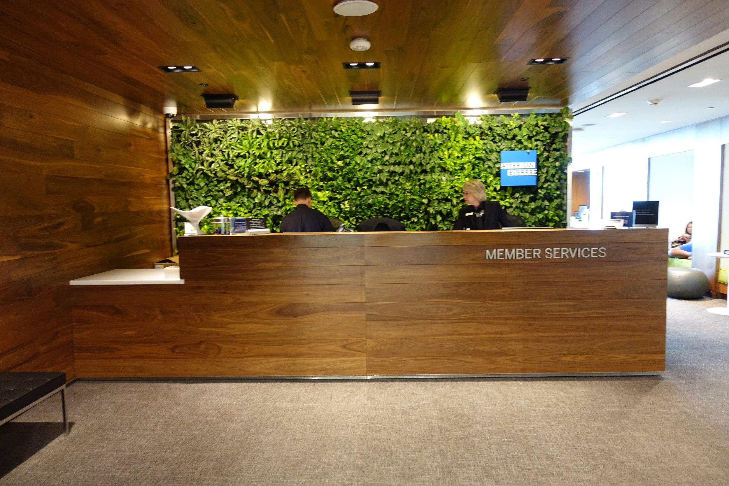 Member services desk
