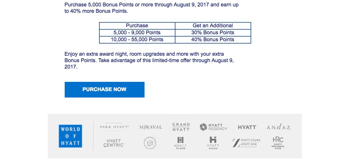 Hyatt points promotion