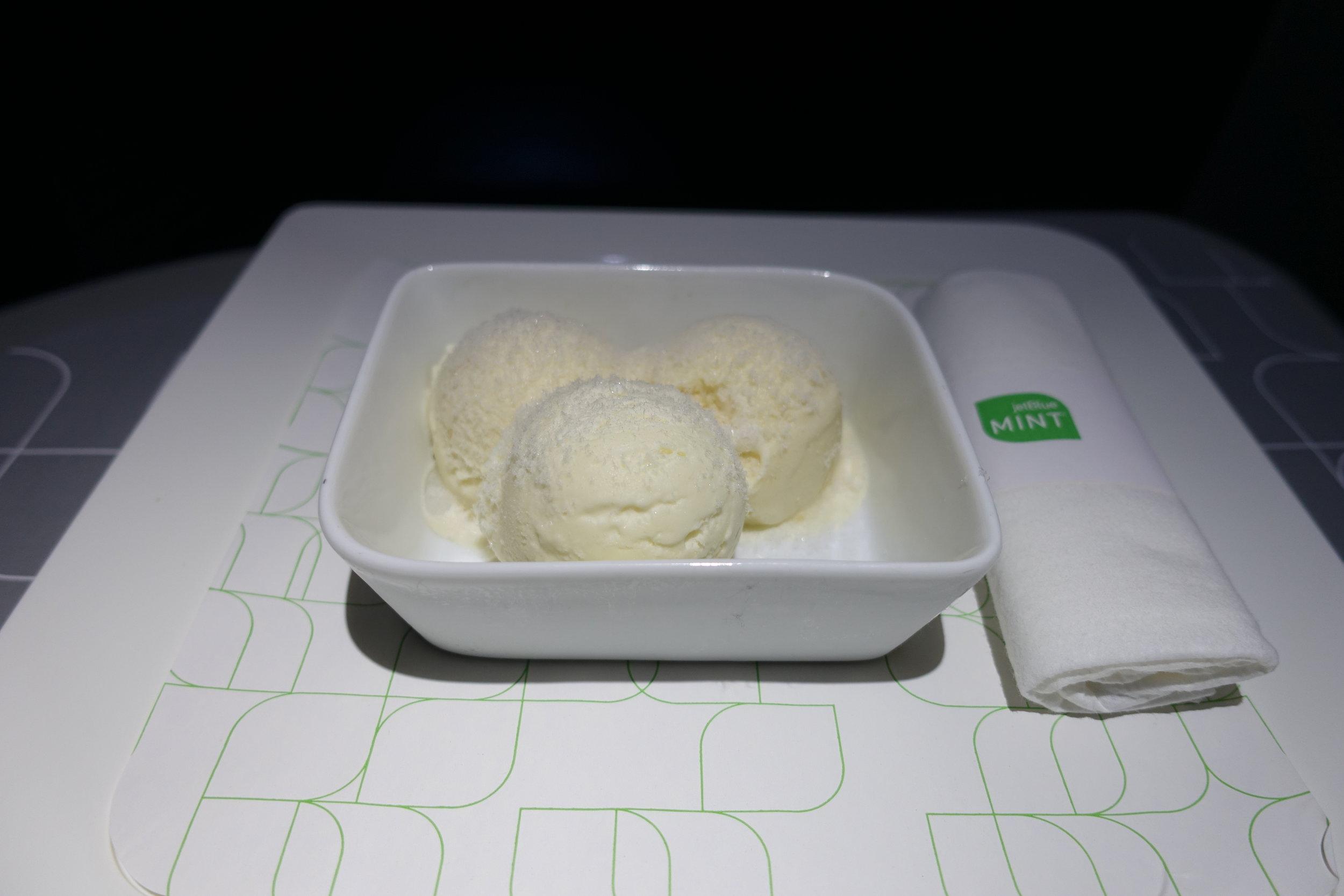 JetBlue ice cream