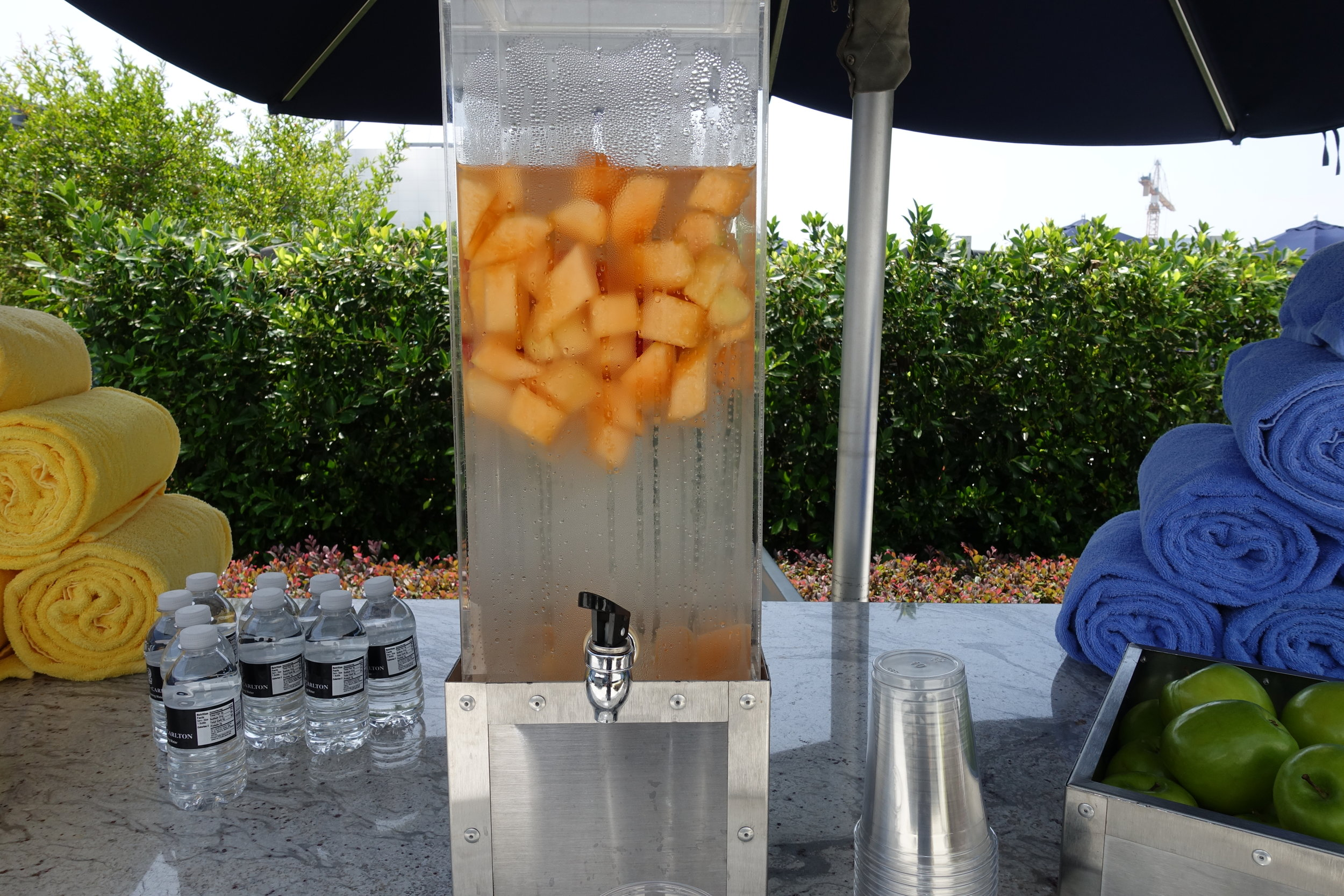 Complimentary fruit infused water