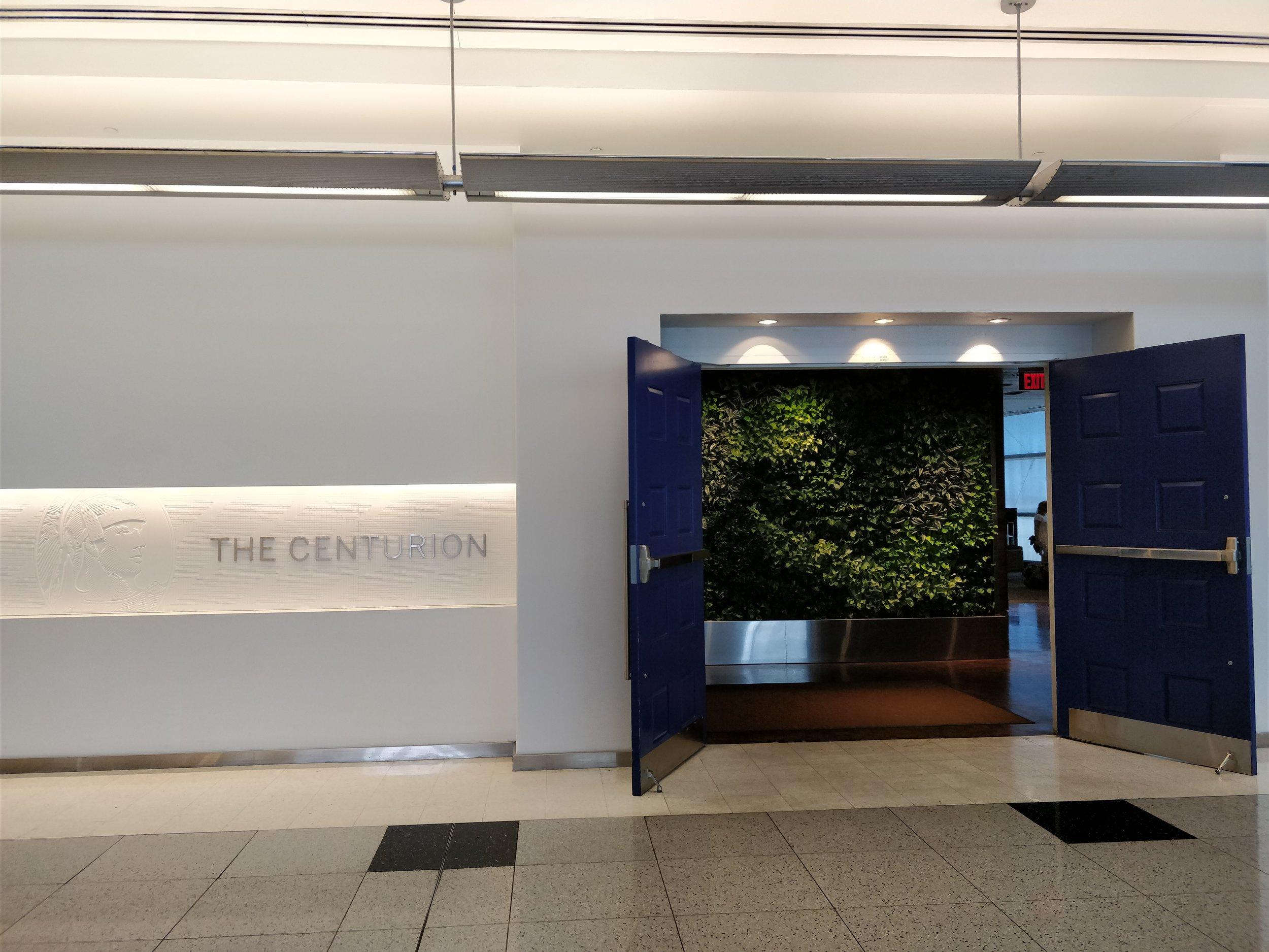 Entrance to the las vegas centurion lounge