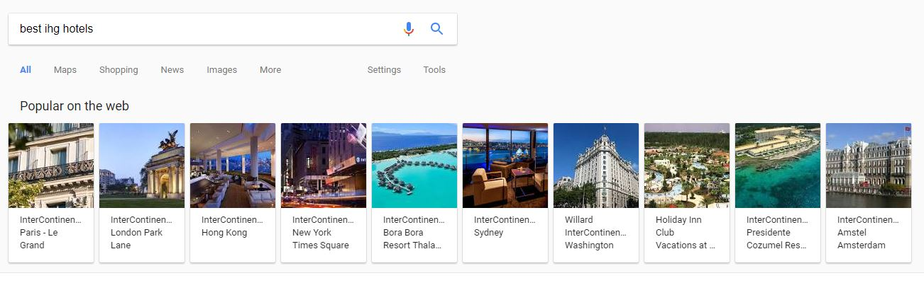 via google search
