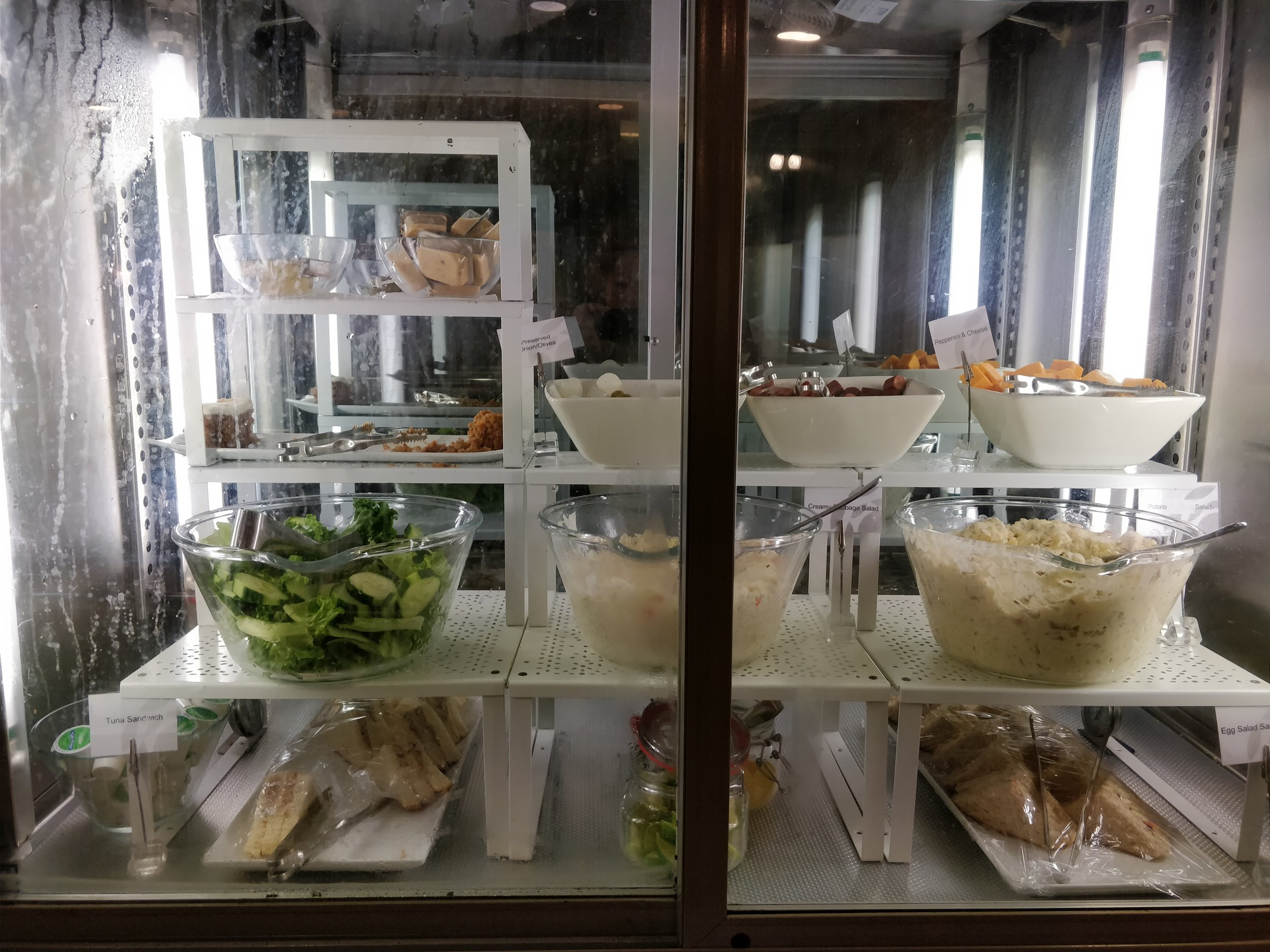 cold sandwiches, salads, and assorted cheese
