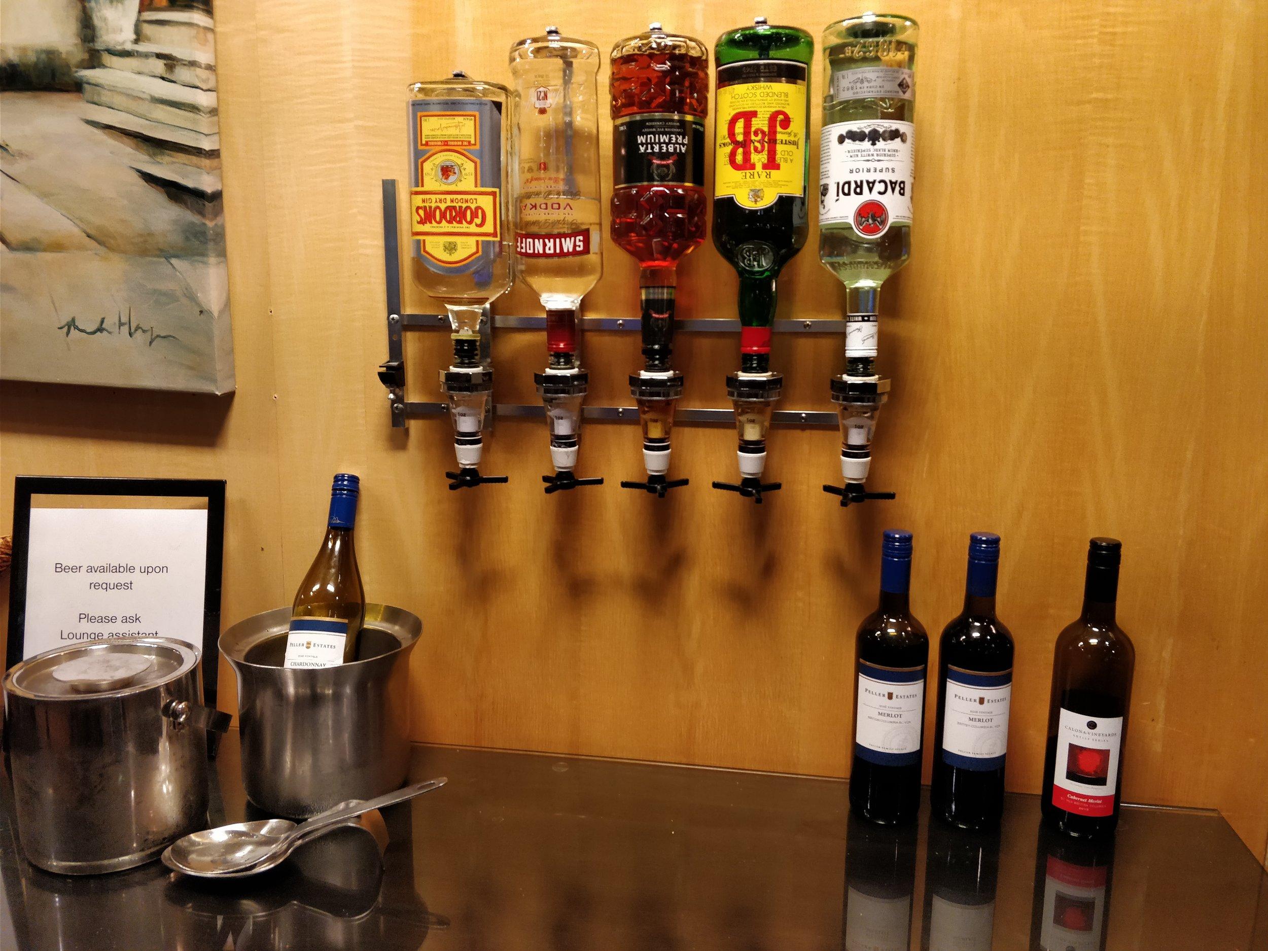 self serve alcohol bar