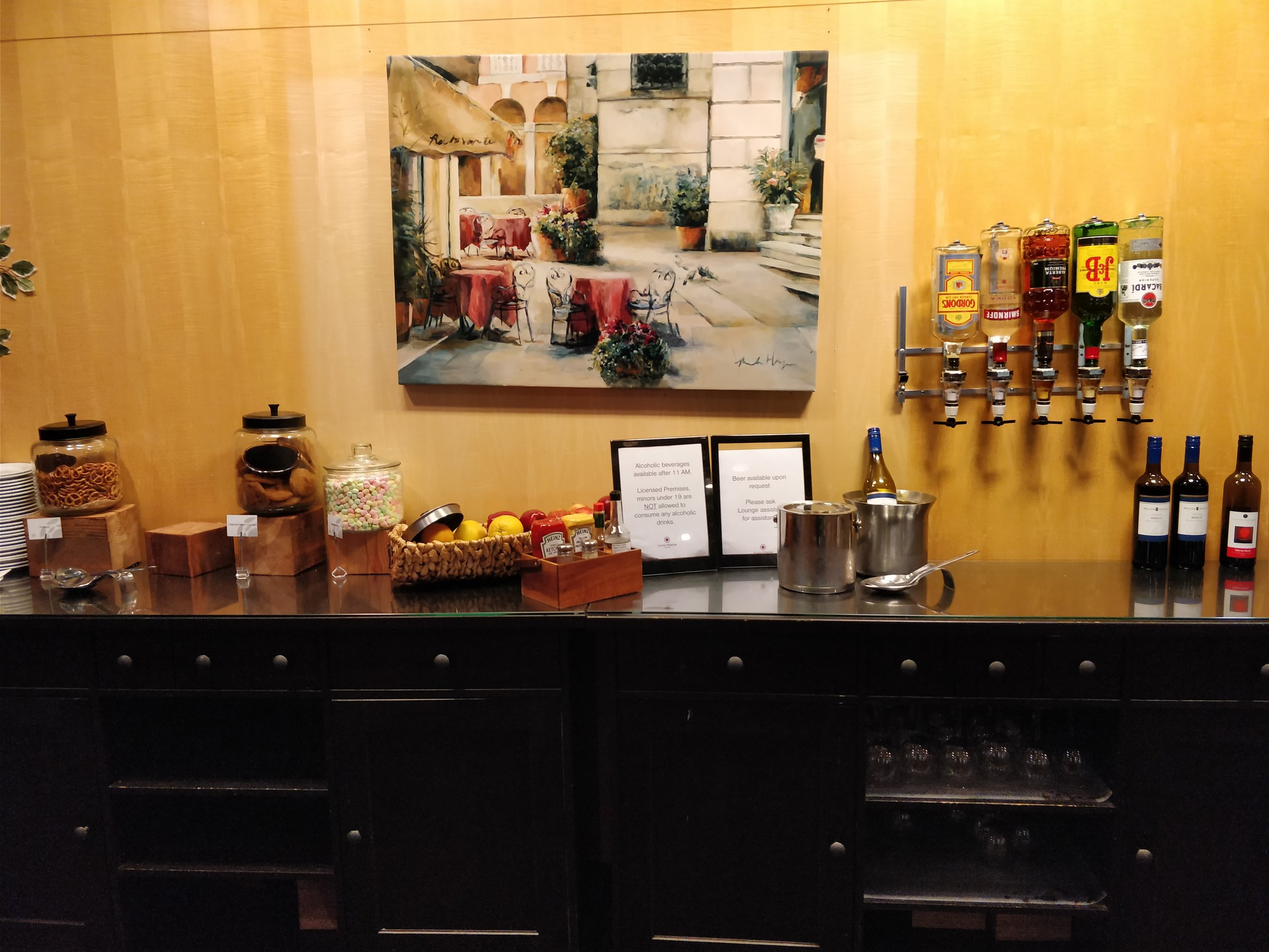 bar and snacks