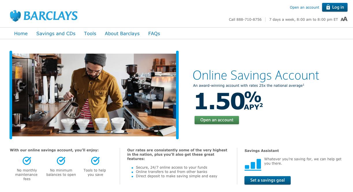 barclays online savings account