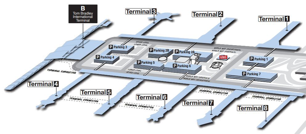 Map of LAX via https://www.flylax.com/en/lax-terminal-maps