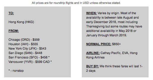 via scott's cheap flights email