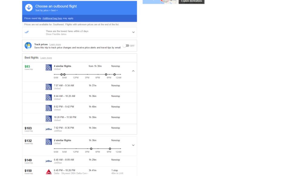 image via google flights