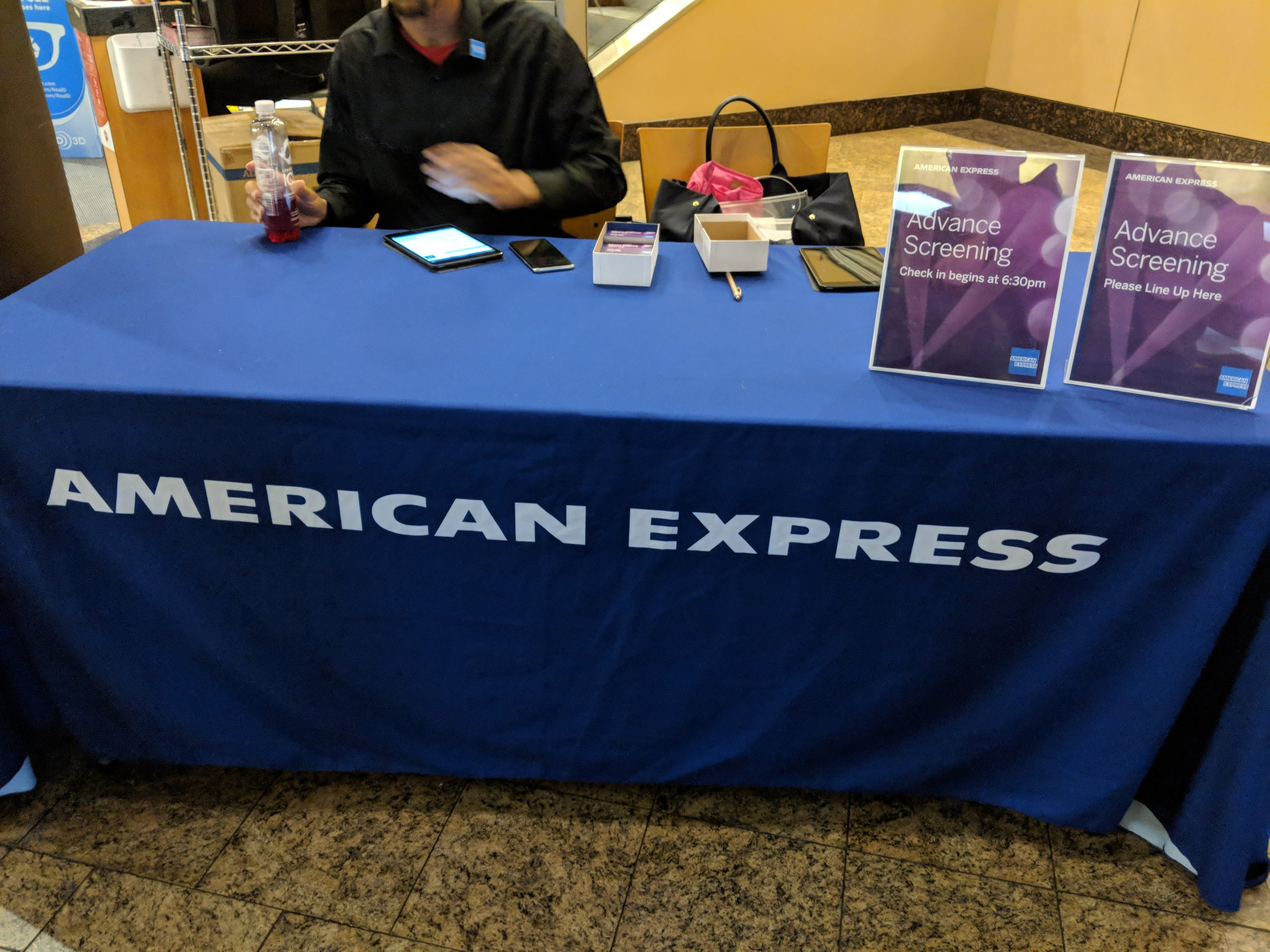 amex booth to pick up tickets