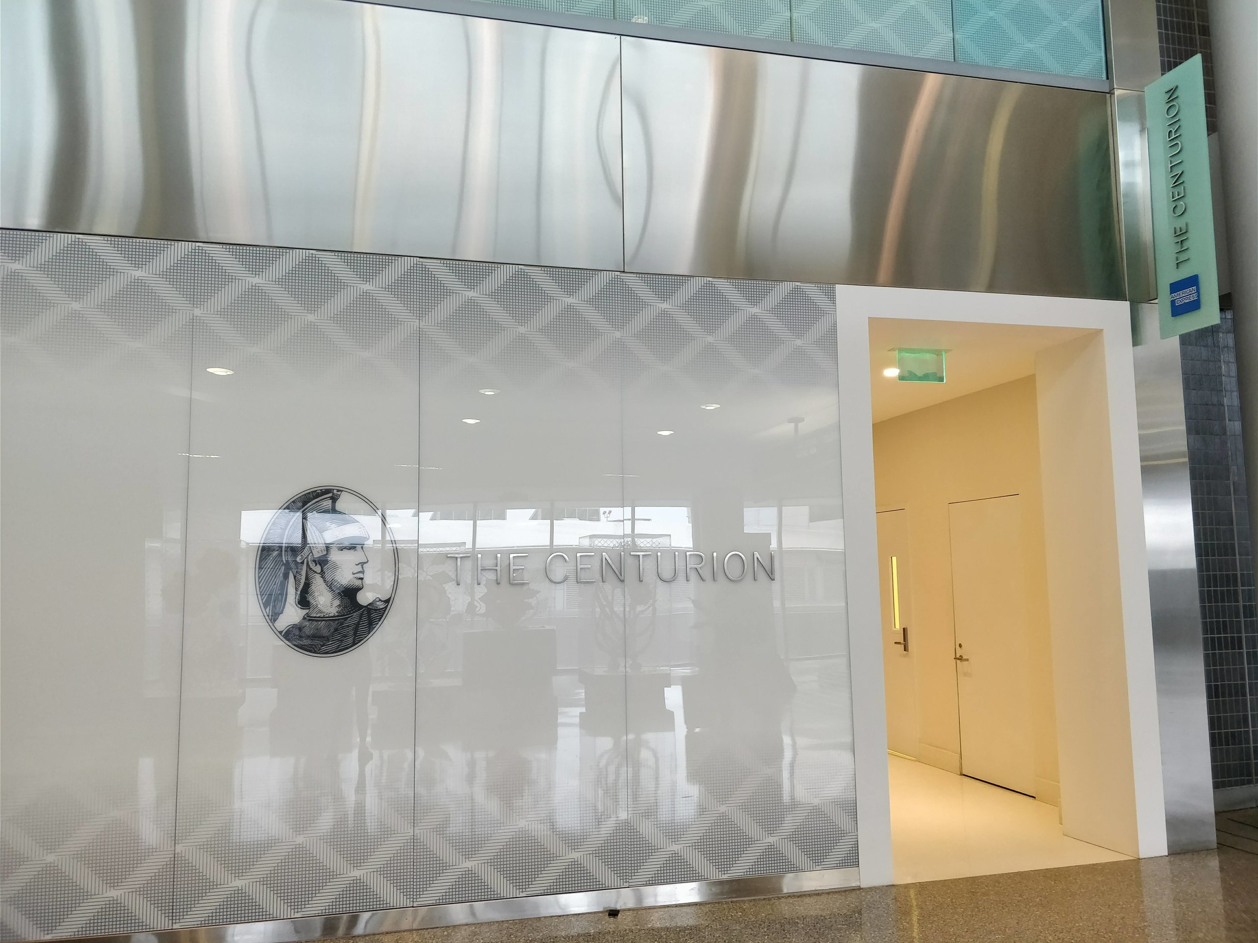 entrance to the phl amex centurion lounge