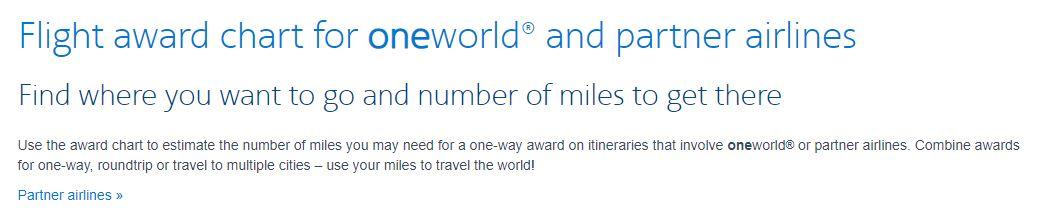 image via  aa.com/i18n/aadvantage-program/miles/redeem/award-travel/oneworld-and-other-airline-partner-award-chart.jsp