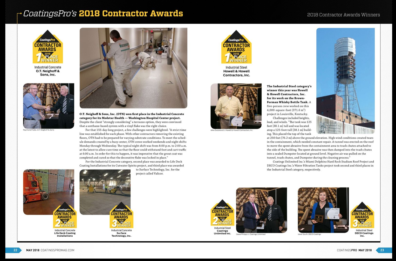 contractor awards 2018 3rd place winners