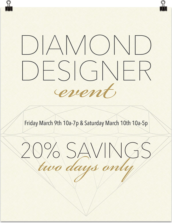 In-store poster and mailers for the annual diamond designer event