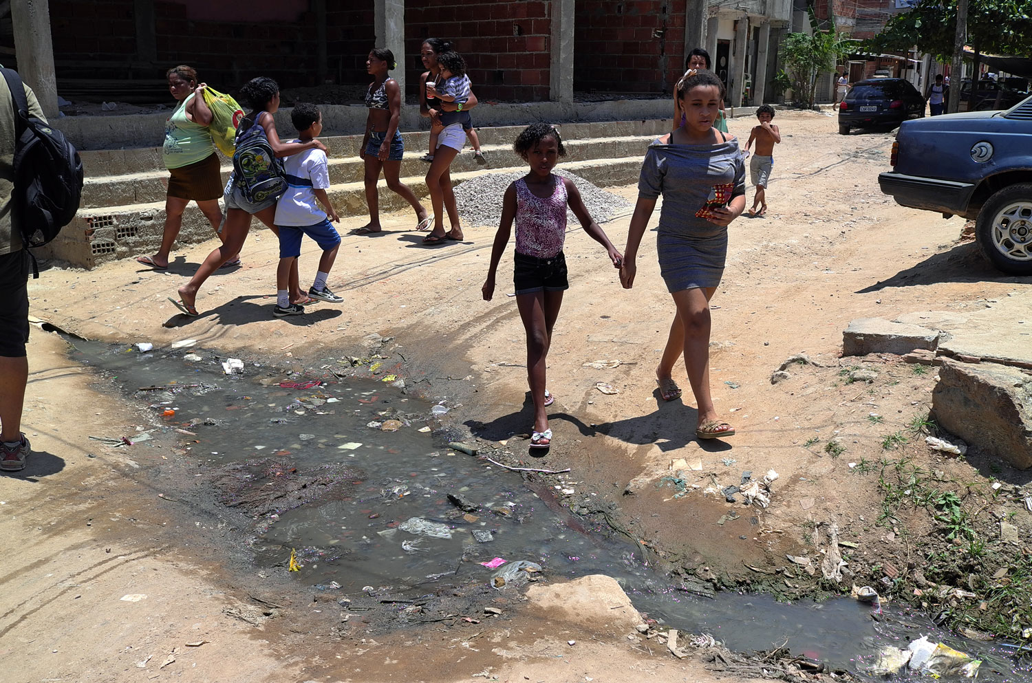 A lack of sanitation and use of the water courses as waste disposal means that public space becomes defined by rubbish and open sewage, damaging pride in neighbourhoods and leading to social conflict.