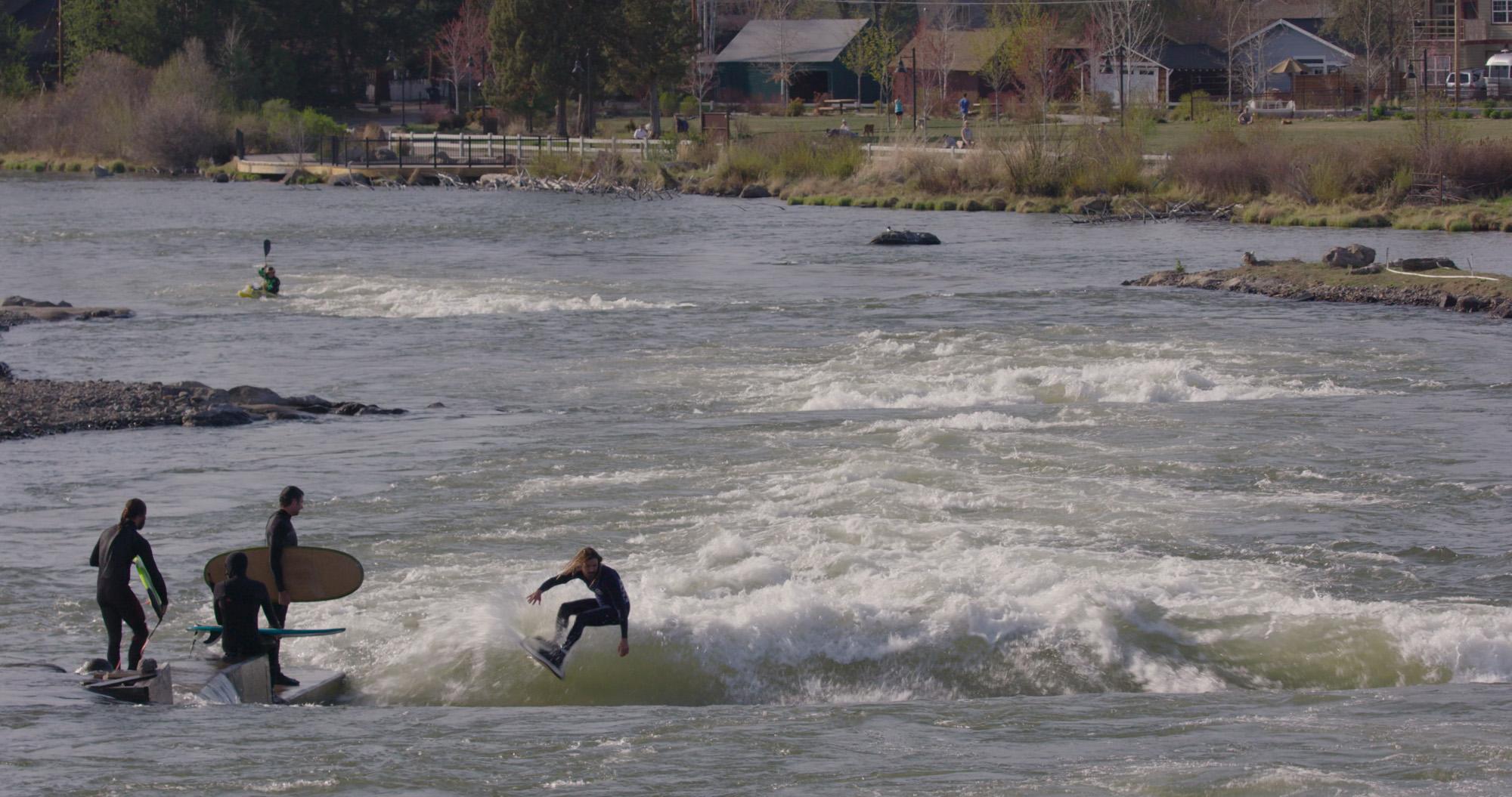 Taking turns in Bend, Oregon.