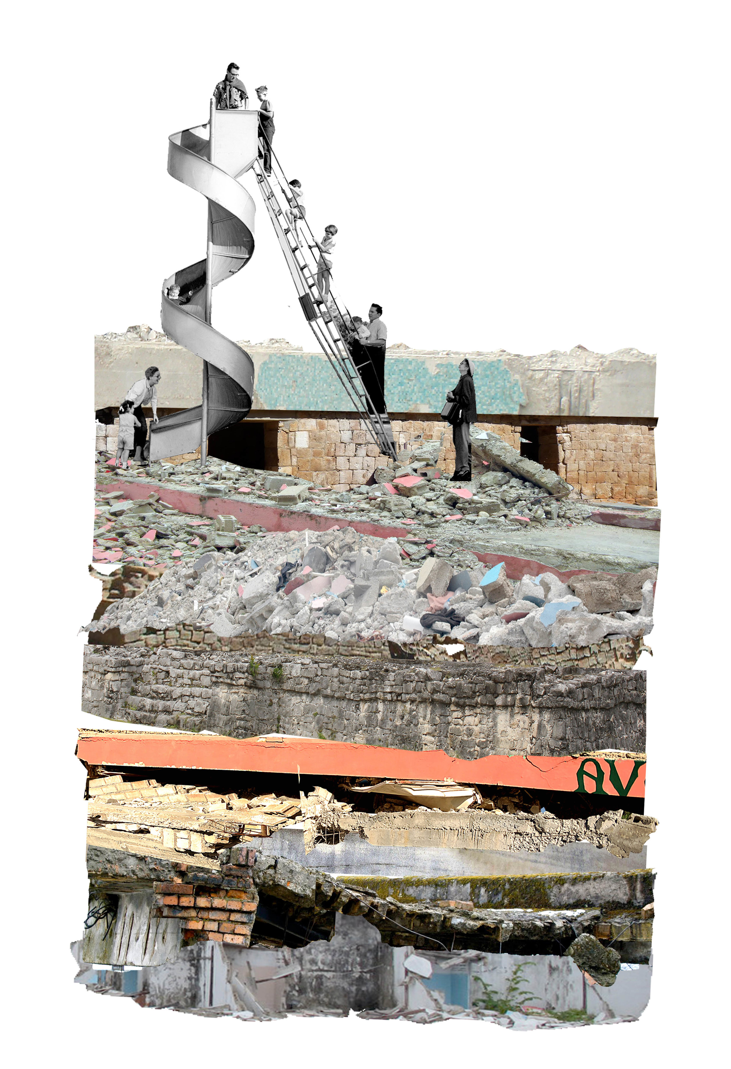 A collage from 'Not So Solid Ground'