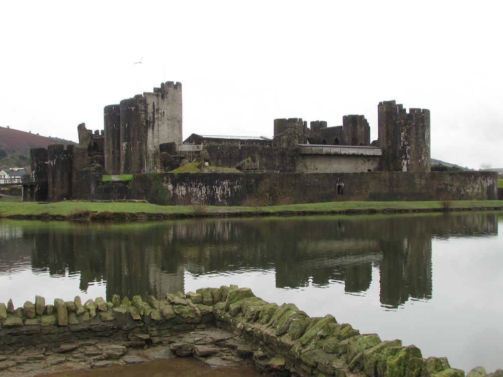 The moat is large but shallow