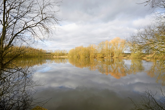 Looking down towards the shallows from peg 26