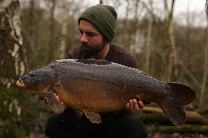 This 24lb mirror was one of Luke's five fish
