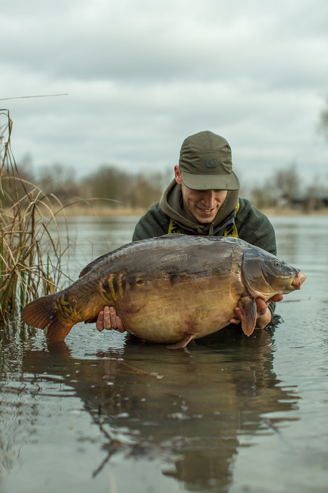 The first fish of the brace weighed 36lb 2oz