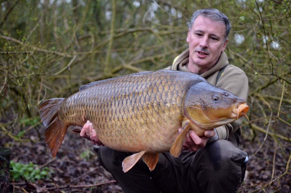 Tony was given permission by the fishery to photograph the fish at dawn