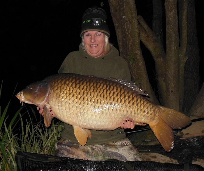 Leanne Jaynes Britain's biggest common at 63lb 4oz
