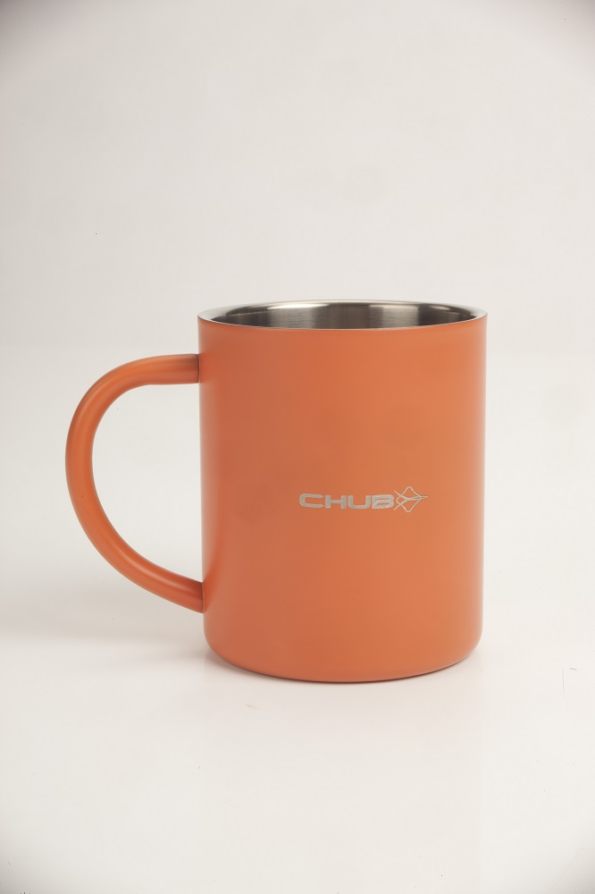 A classic stainless mug