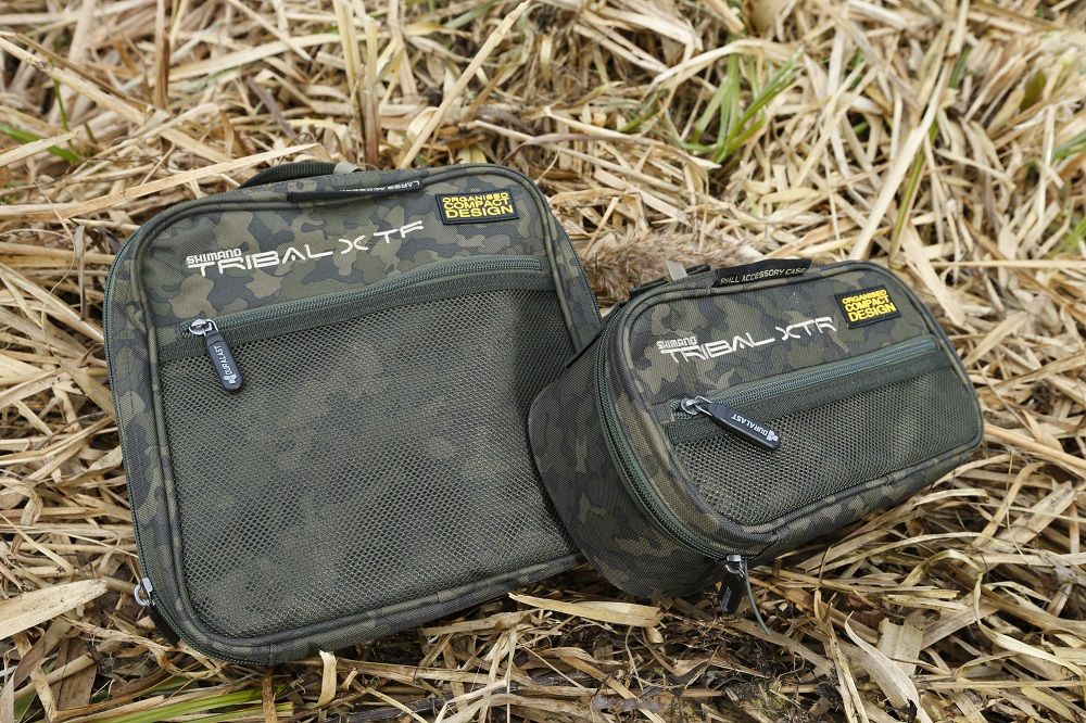 Two of the large (left) and small accessory bags that come with the system