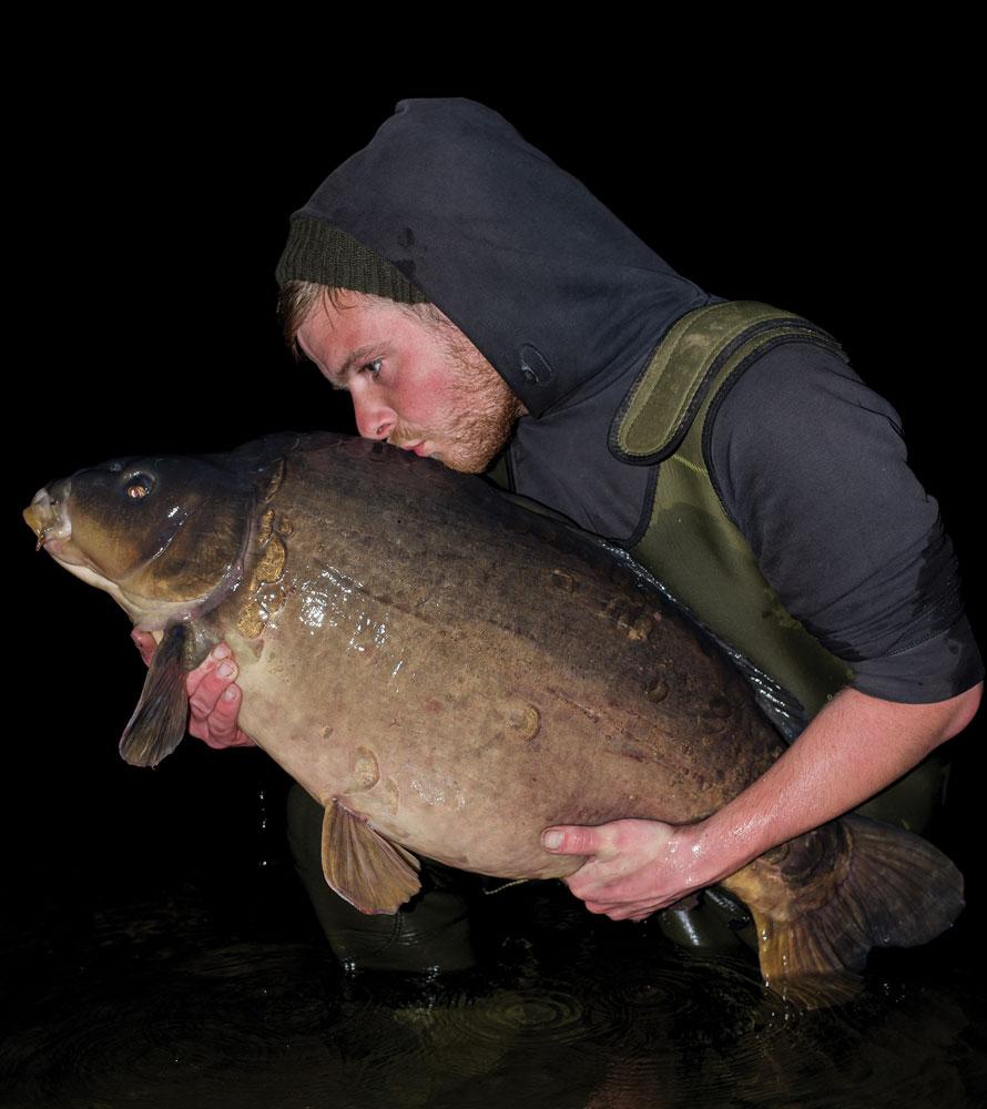 Matthew Lockett with his Rockford mirror carp of 42lb 2oz