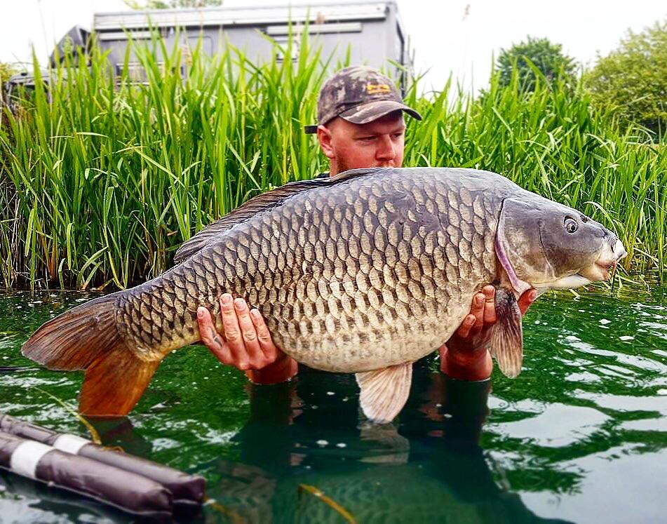 Luke shows off his new pb at Caistor Lakes