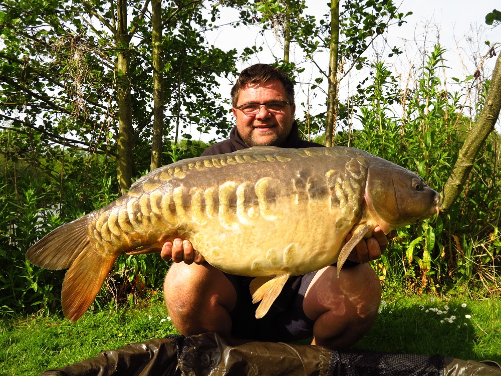 What he really came for, a 39lb scaly mirror