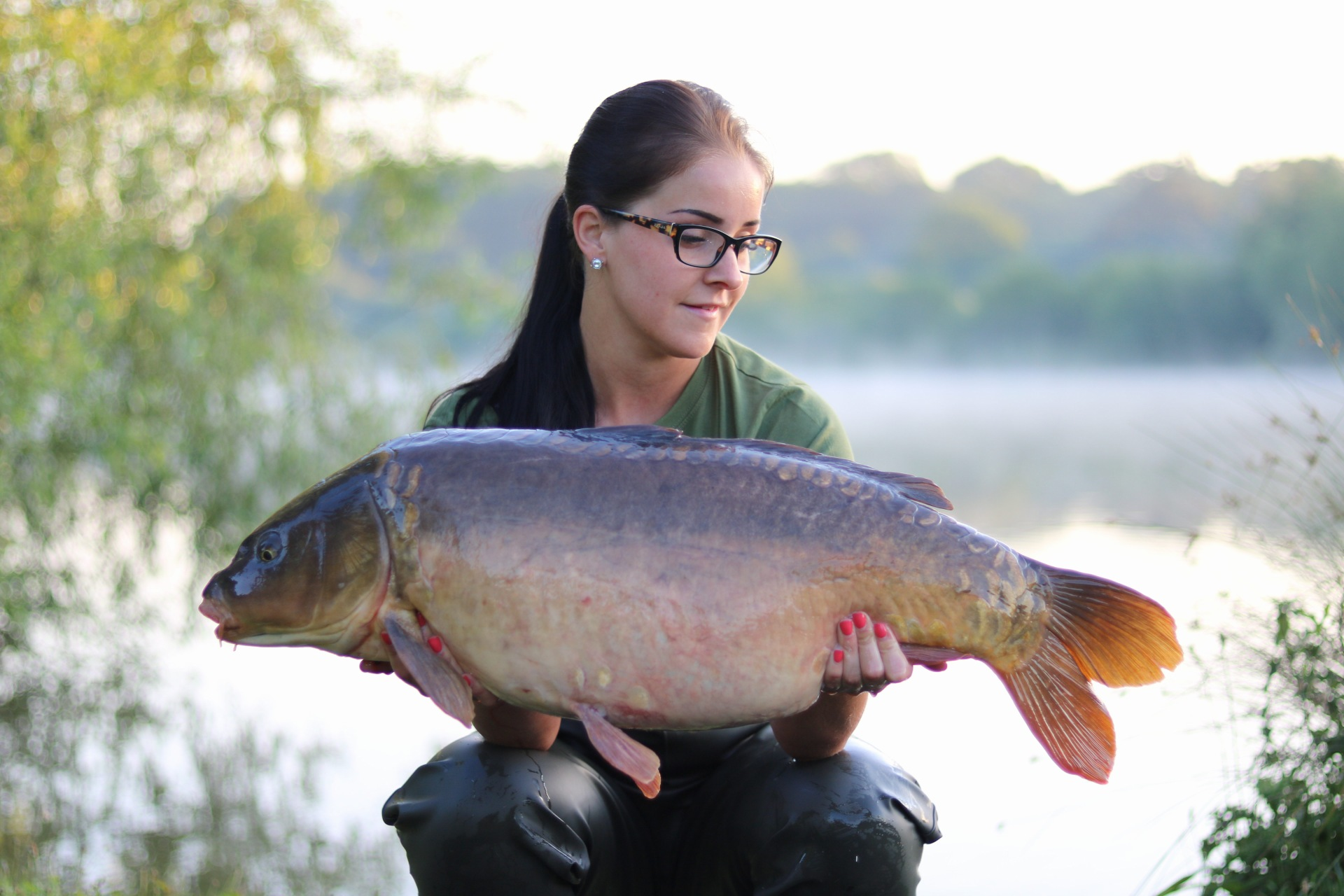 Katie with her 26lb mirror