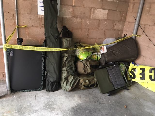 The anglers' kit has been seized