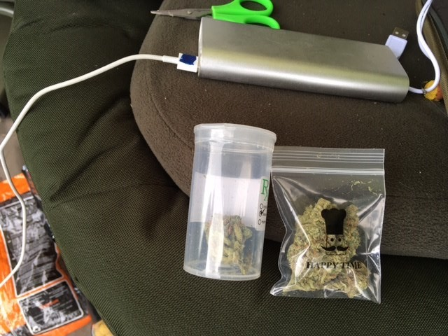 A small amount of cannabis was initially found in the bivvy