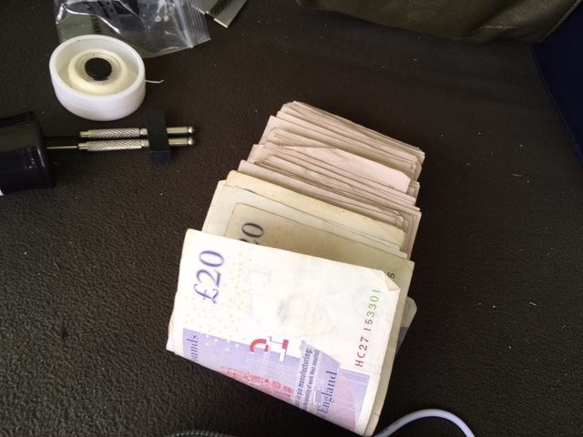 A large amount of cash was seized