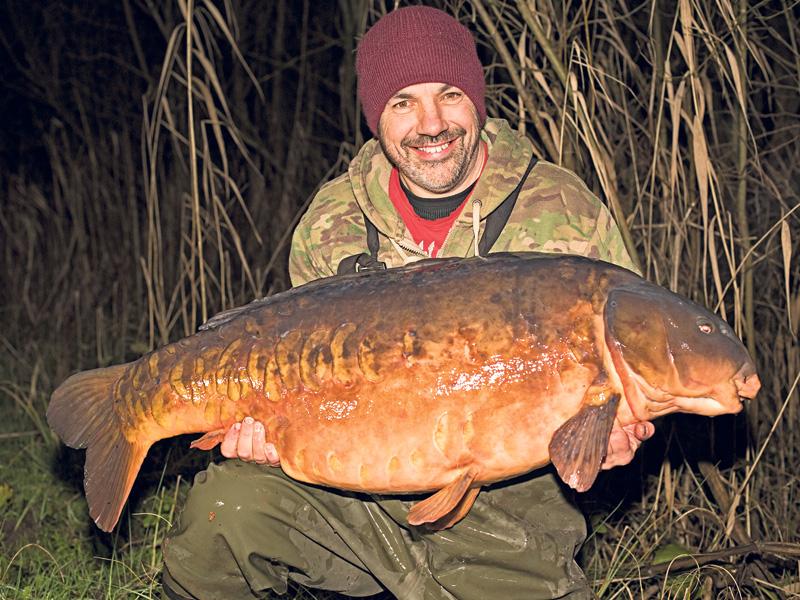 Dean Fletcher's British-record carp at 68lb 1oz