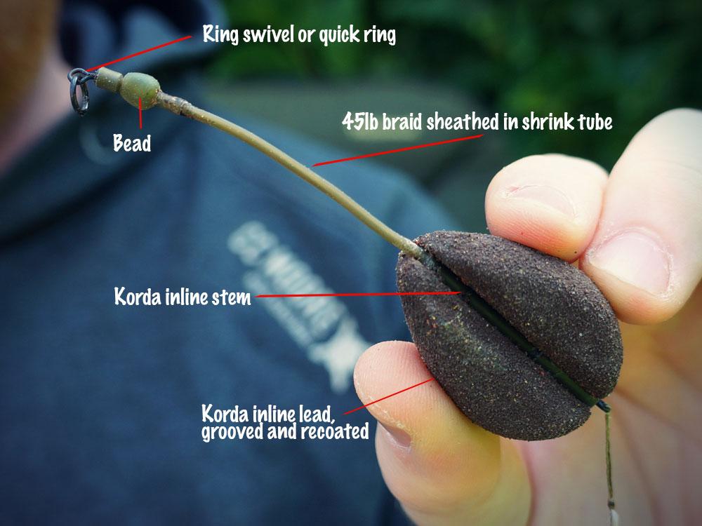 Korda Solid Bag Set Up PVA Bags Inline Leads Carp Fishing Tackle Korda Rigs