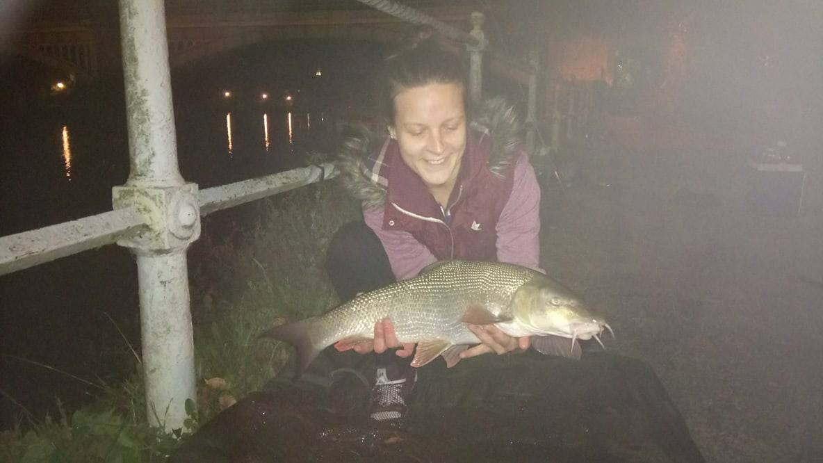 She also snared an 8lb barbel