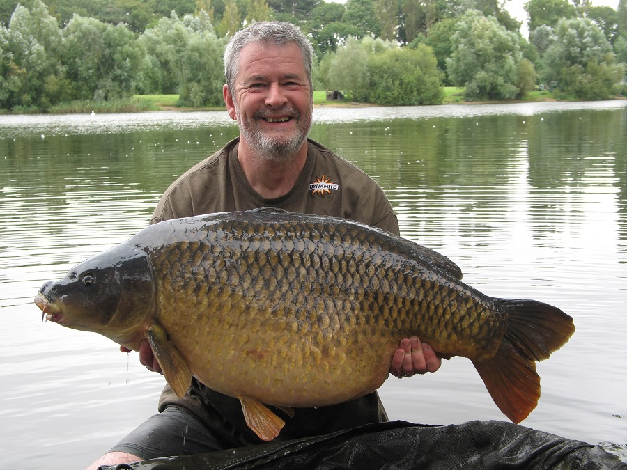 Tony was all smiles with his new pb common