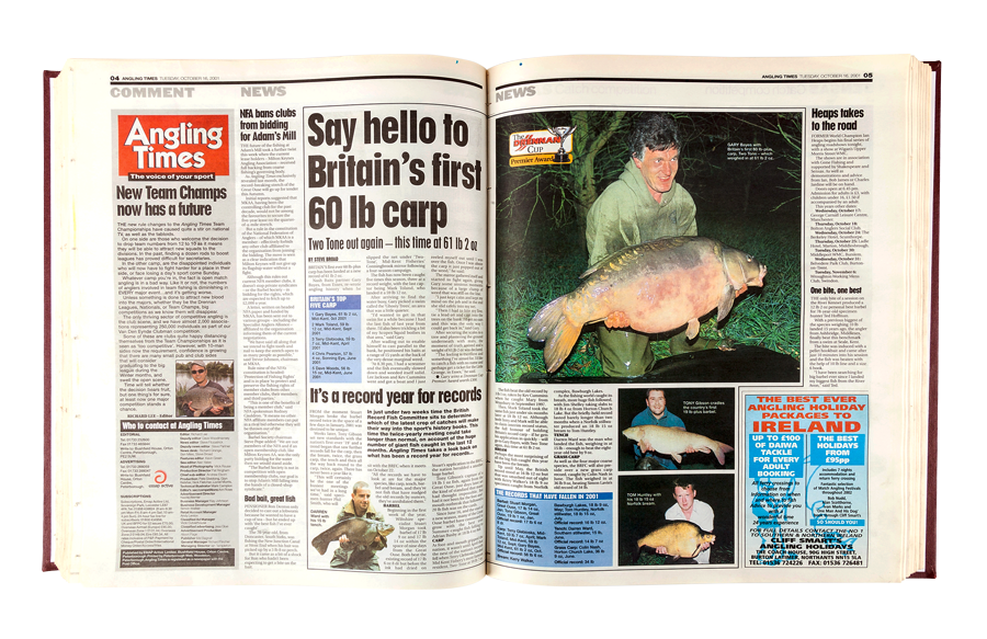 As the story appeared in Angling Times