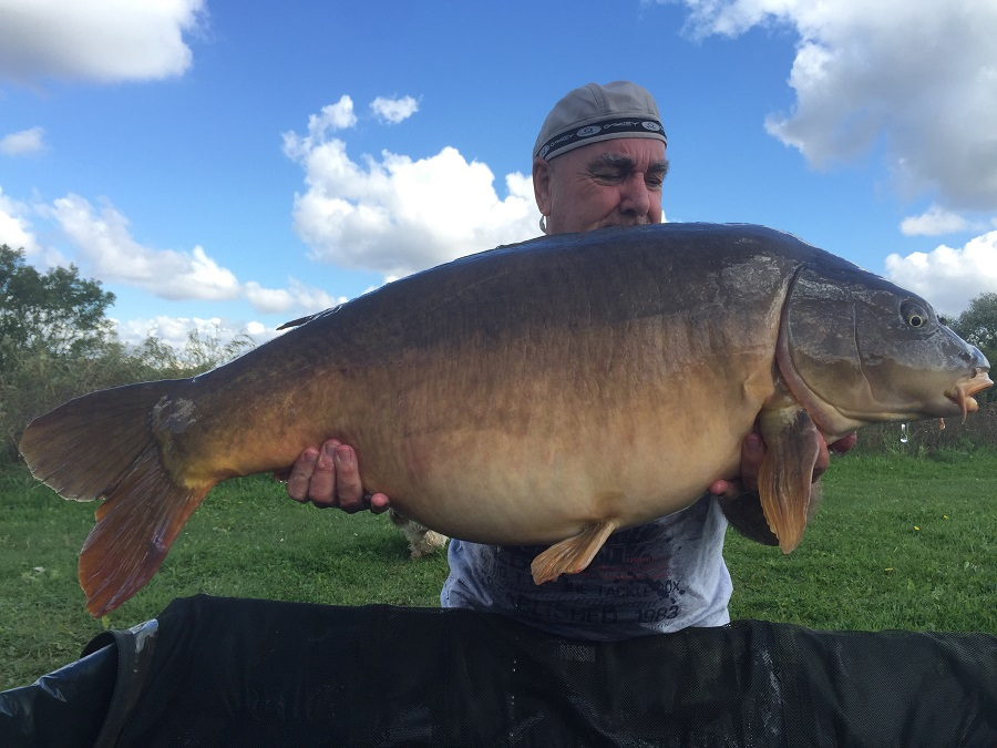 50lb 2oz of Essex mirror for Peter