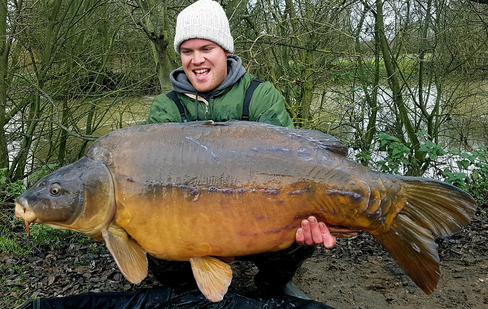 Rarely caught in January, Dave weighed in at 54lb